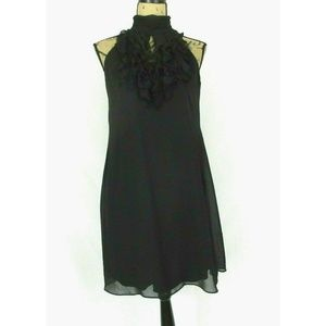 Julian Taylor NY Black Ruffle Shift Dress (6P)